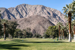 Terrain de golf chez Borrego Springs, la Californie Images stock