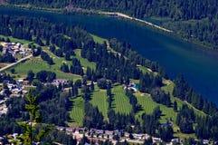 Terrain de golf chez Revelstoke Images stock