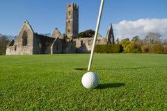 Terrain de golf d'abbaye Photos libres de droits