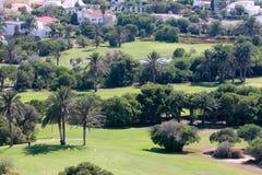 Terrain de golf d'Almerimar en Espagne sur le del Almeria de côte Images stock