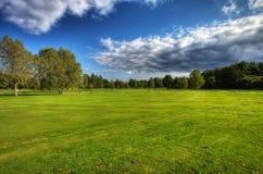 Terrain de golf d'automne en Suède Photos stock