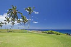 Terrain de golf d'Hawaï Photos libres de droits