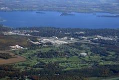 Terrain de golf d'Orillia, aérien image stock
