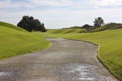 Terrain de golf dans Belek Herbe verte sur la zone Images stock
