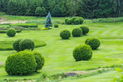 Terrain de golf dans la campagne photos libres de droits