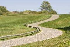 Terrain de golf dans le printemps au sud du Portugal Image libre de droits