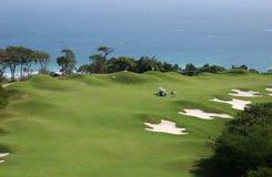 Terrain de golf dans les Caraïbe Images libres de droits