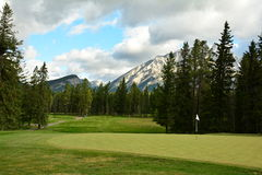 Terrain de golf de Banff Photographie stock libre de droits