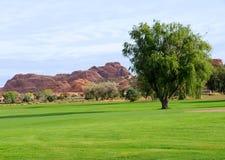 Terrain de golf de désert Photographie stock libre de droits