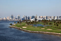Terrain de golf de Dubai Creek Photo stock