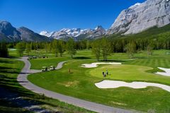 Terrain de golf de Kananaskis Photographie stock libre de droits