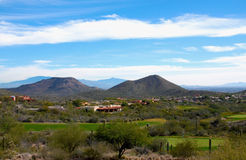 Terrain de golf de l'Arizona Photographie stock libre de droits