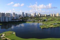Terrain de golf de la Floride Images stock