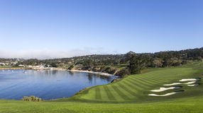 Terrain de golf de Pebble Beach, Monterey, la Californie, Etats-Unis photos libres de droits