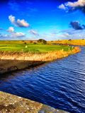 Terrain de golf de Seahouses photo stock