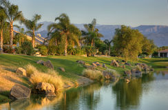 Terrain de golf de signature de joueur de Gary photos libres de droits