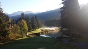 Terrain de golf de Whistler Photos libres de droits