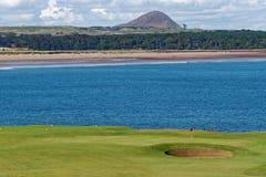 Terrain de golf de Winterfield Image stock