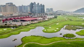 Terrain de golf du Macao Image libre de droits