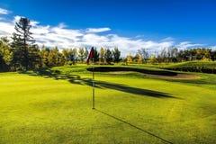 Terrain de golf en automne Photographie stock
