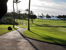 Terrain de golf en Hawaï Image stock
