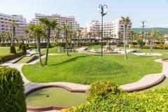 Terrain de golf en Sunny Beach, Bulgarie image libre de droits