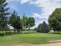 Terrain de golf français pendant l'été de 2018 images libres de droits