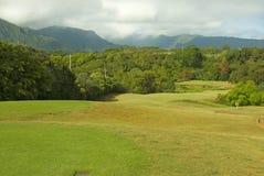 Terrain de golf hawaïen Photographie stock