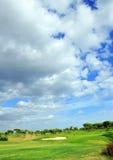 Terrain de golf, joueurs, Andalousie, Espagne Photo stock