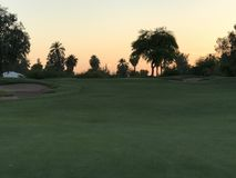 Terrain de golf de l'Arizona à image stock