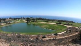 Terrain de golf Malibu banque de vidéos