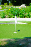 Terrain de golf miniature Photos libres de droits