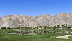 Terrain de golf occidental de Pga, Palm Springs, la Californie Photographie stock libre de droits