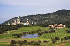 Terrain de golf perdu de ville, Sun City Images stock