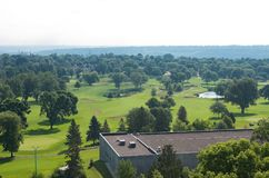 Terrain de golf public à Highland Park Photos stock