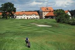 Terrain de golf - République Tchèque Photos stock
