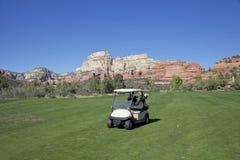 Terrain de golf scénique Images stock