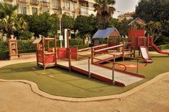 Terrain de jeu à Malaga Espagne Photo stock