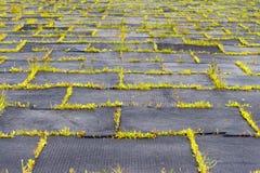 Terrain de jeu avec les tapis en caoutchouc et le x28 ; panels& x29 ; pour la sécurité Long-abandone Photographie stock libre de droits