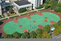 Terrain de jeu d'école Photo stock