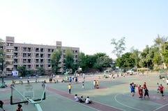 Terrain de jeu d'école Photos libres de droits