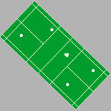 Terrain de jeu de badminton d'isolement sur le blanc Folâtre le vecteur d'infrastructure Photo stock