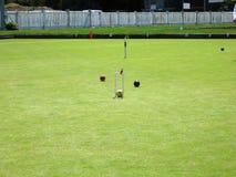Terrain de jeu de jeu de croquet Images libres de droits