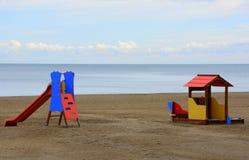 Terrain de jeu de plage à Malaga Photo libre de droits
