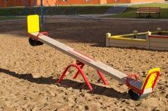 Terrain de jeu de Sandy pour des enfants Photo libre de droits