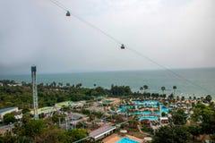 Terrain de jeu du front de mer d'hôtel de plage de parc de Pattaya Photo libre de droits