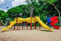 Terrain de jeu, en parc de lumpine Photographie stock libre de droits