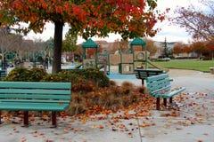 Terrain de jeu et automne Photos stock