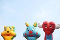 Terrain de jeu gonflable des bandes dessinées des enfants Images stock