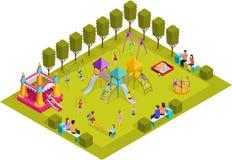 Terrain de jeu isométrique d'enfants Photos libres de droits